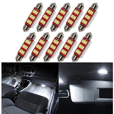 Fezz Bombillas LED Coche Interiors Luz Lám para Festoon 36Mm C5W C10W Canbus 4014 12Smd 5W