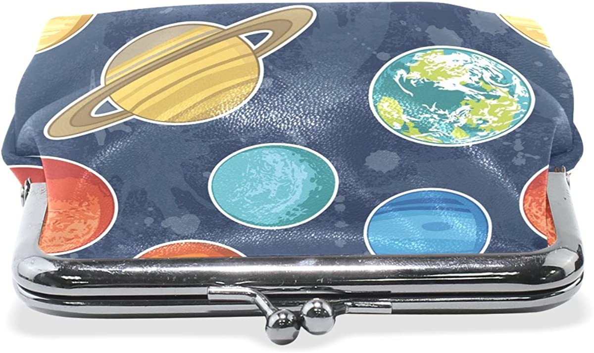 Sunlome Solar System Planets Coin Purse Change Cash Bag Small Purse Wallets for Women Girl