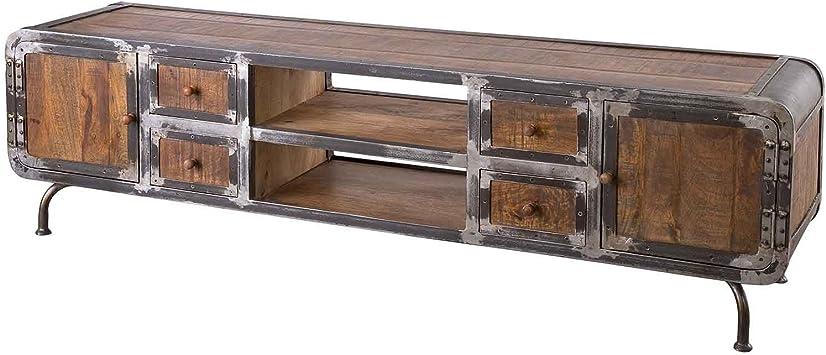 saigon meuble tv en bois de manguier