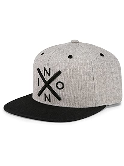 Nixon Exchange Snapback Hat Heather Gray/Black One Size