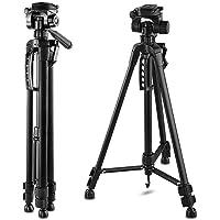 "Happyjoy 55-Inch 55"" Tripod Lightweight Aluminum with Bag for Canon Nikon Sony Pentax Sigma Fuji Olympus Panasonic JVC Samsung Cameras Camcorders"