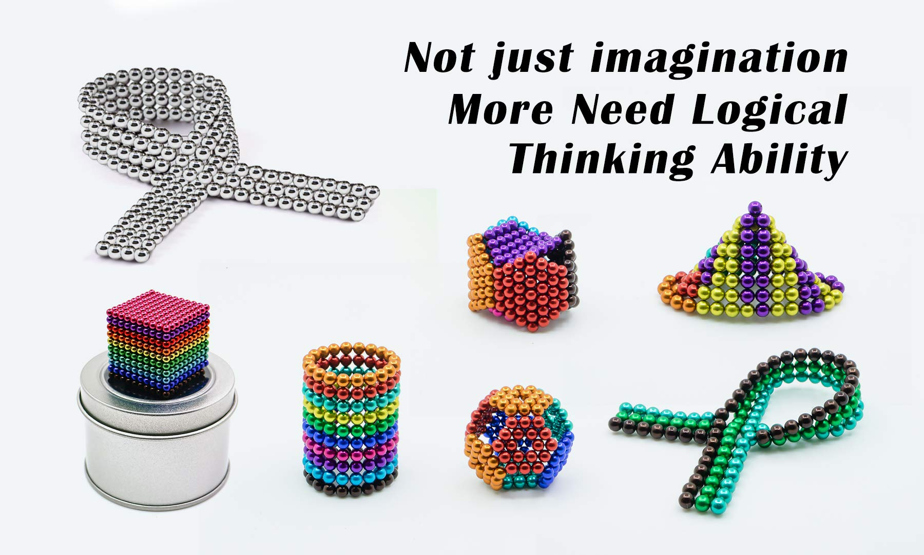 sunsoy 1000 Pieces 5mm Sculpture Building Blocks Toys for Intelligence Learning -Office Toy & Stress Relief for Adults Colorful by sunsoy (Image #6)