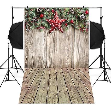 JiaMeng Decoración del hogar Antecedentes de Navidad Calabaza Vinilo 3x5FT Fondo de fotografía de Fondo de