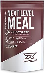 Runtime Meal | Sustituto de las comidas que proporciona saciedad, energía, concentración | 25 vitaminas, minerales y nutrientes | 150g (Chocolate)