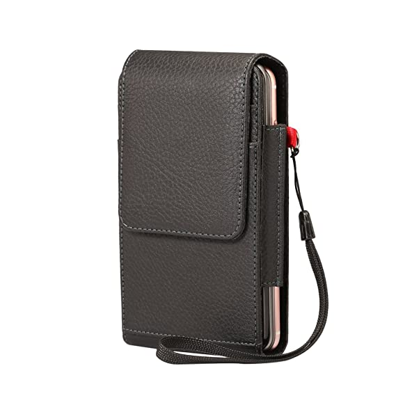 best sneakers 3654a 5ae6f Amazon.com: PU Leather Dual Phones Belt Clip Case Holster with Belt ...