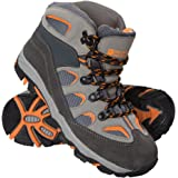 Mountain Warehouse Oscar Childrens Boys Girls Suede Durable Hard Outsole Walking Shoes Hiking Boots