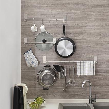 Toalleros de Barra adhesivo Fuerte alta calidad Sin Taladrar 55 CM para paños de cocina o