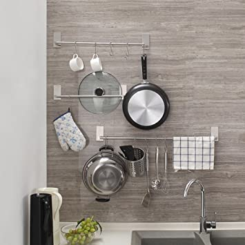 Toalleros de Barra adhesivo Fuerte alta calidad Sin Taladrar 40 CM para paños de cocina o toallas de baño Uonner: Amazon.es: Bricolaje y herramientas
