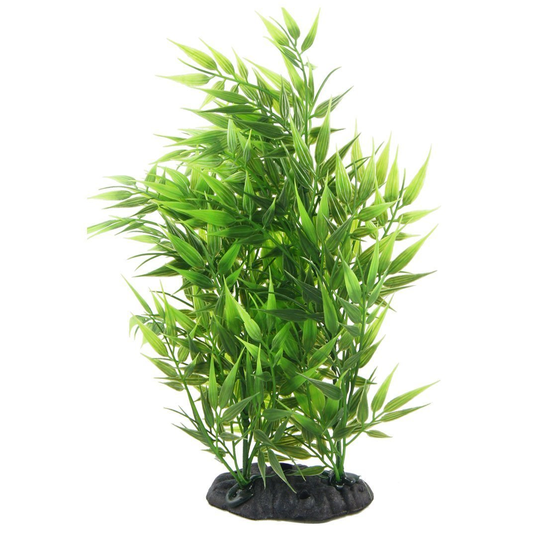 TOOGOO(R) Vert forme feuilles de Bambou Decoratif gazon artificiel pour Aquarium reservoir de poissons