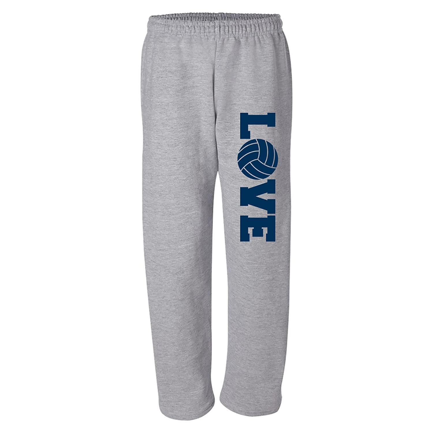UGP Campus Apparel Volleyball Love Vball Team Color Unisex Open-Bottom Sweatpants