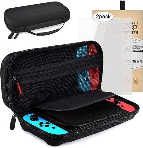 Kit Protección para Nintendo Switch, OIZEN Funda Switch Accesorios de Protección incluyen Funda Switch 2 Protector de pantalla: Amazon.es: Videojuegos