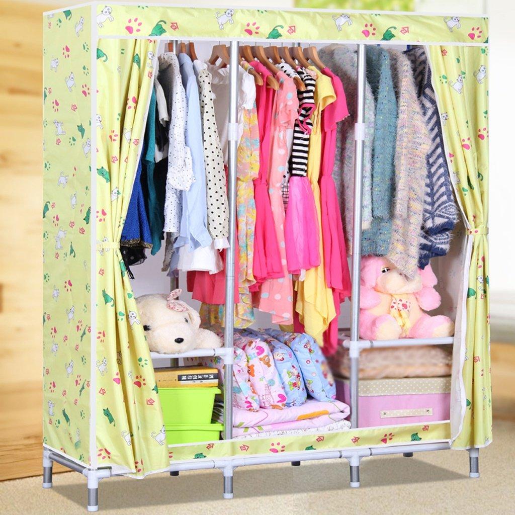 MMM& Einfache Schränke Stahlrahmen Oxford Tuch Große Montage Falten Tuch Kleiderschrank Verstärkung (Farbe :   2)
