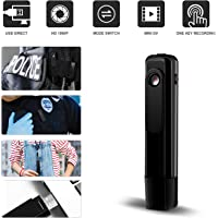 Ehomful Mini Body Camera HD 1080P Hidden Spy Camera Wearable Video Recorder Loop Recording Portable Clip Body Worn Camera with USB Flash Drive/One Key Fast Record for Outside Home/Office