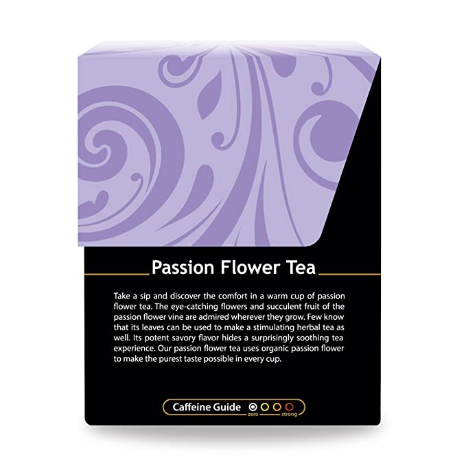 1 Pack Passion Flower Tea Organic Herbs 18 Bleach Free Tea Bags Amazon In Grocery Gourmet Foods