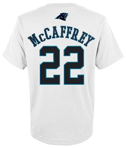 cf4147b2b6b Outerstuff Christian McCaffrey Carolina Panthers  22 White Youth Mainliner  Name   Number T Shirt (