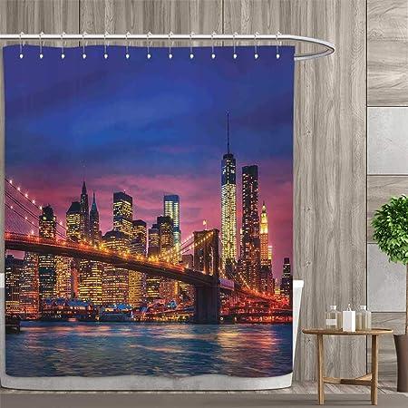 Anniutwo New York Cortina de Ducha colección por NYC Midtown ...