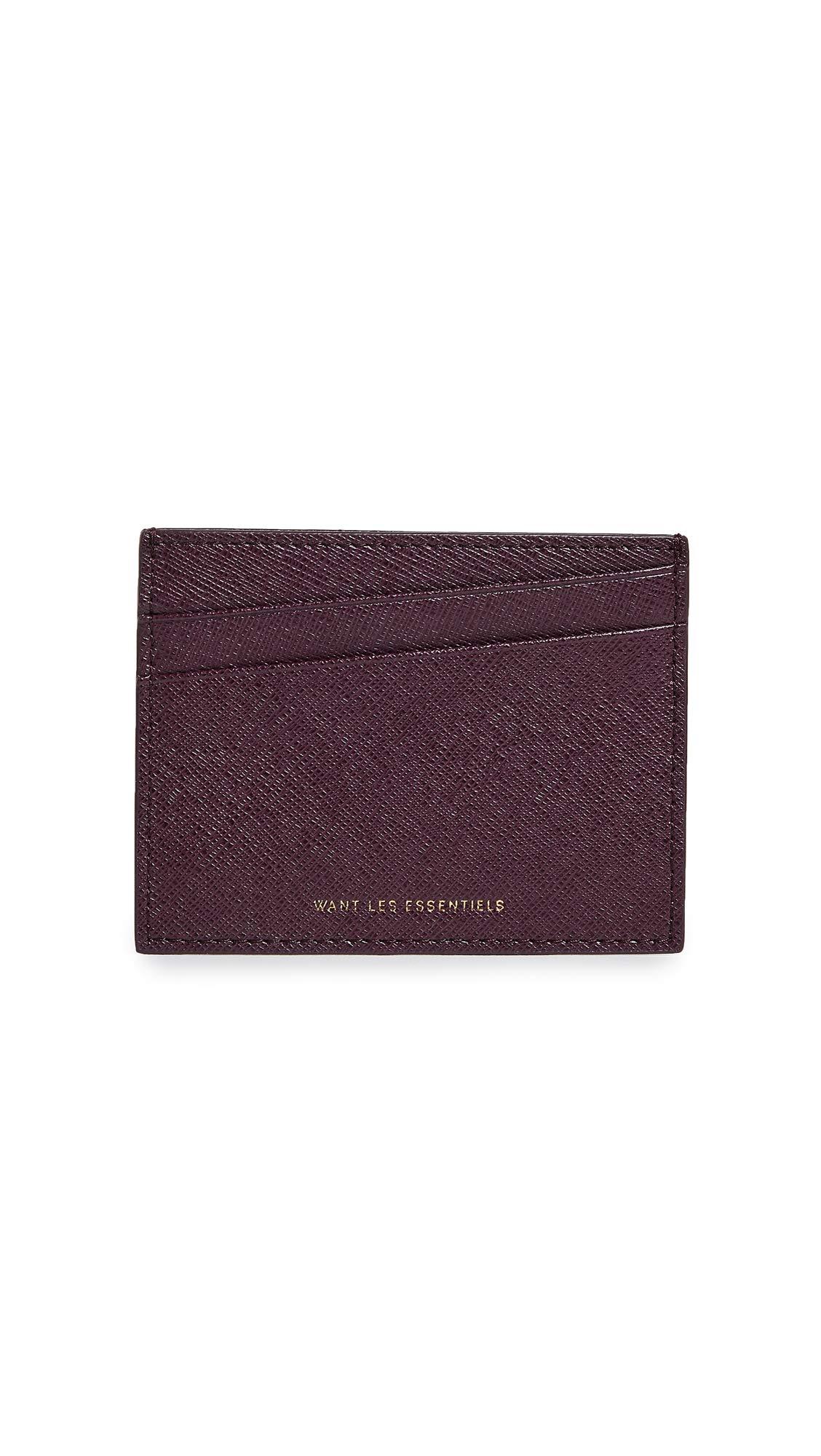 WANT Les Essentiels Women's Branson Card Holder, Aubergine, Purple, One Size