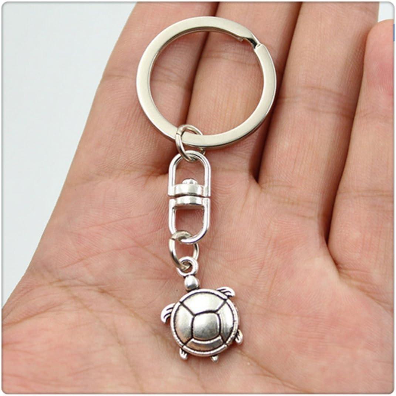Vintage tortoise Key Rings Fashion Car Keychain Silver Color Metal Key Chains Accessory