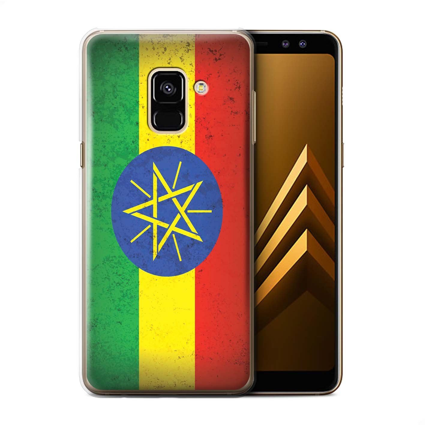 Stuff4 Phone Case Cover for Samsung Galaxy A8 2018 Ethiopia Ethiopian Design African Flag Collection Amazon puters & Accessories