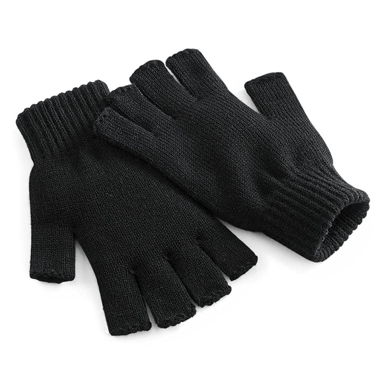 Fingerless gloves for gaming - Amazon Com Beechfield Unisex Plain Basic Fingerless Winter Gloves S M Black Clothing