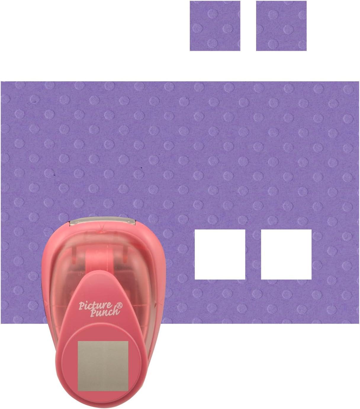 Grande Fustellatrice per Carta Vaessen Creative Perforatrice Quadrata L Maxi per DIY Scrapbooking e Creazione di Biglietti