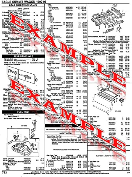 1994 ford aspire wiring diagram amazon com illustrated collision repair sheets compatible with  illustrated collision repair