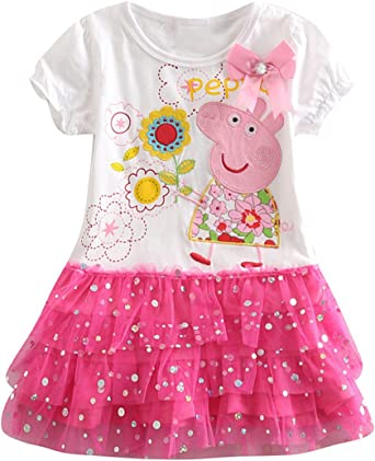 Peppa Pig Kid/'s Kids Girl/'s Girl Girls Pink Skirt Tutu Skivvy