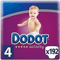 Dodot Activity Pañales Talla 4, 192 Pañales, 9-14