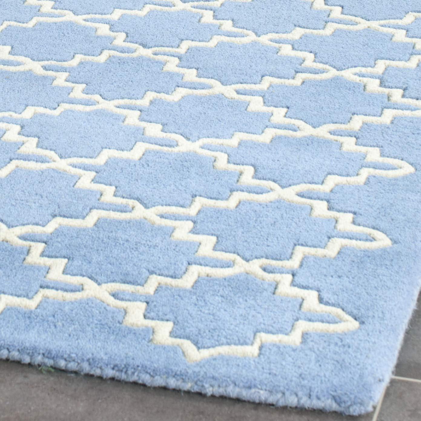 Safavieh Chatham Collection CHT930A Handmade Blue Grey Premium Wool Runner 2 3 x 7