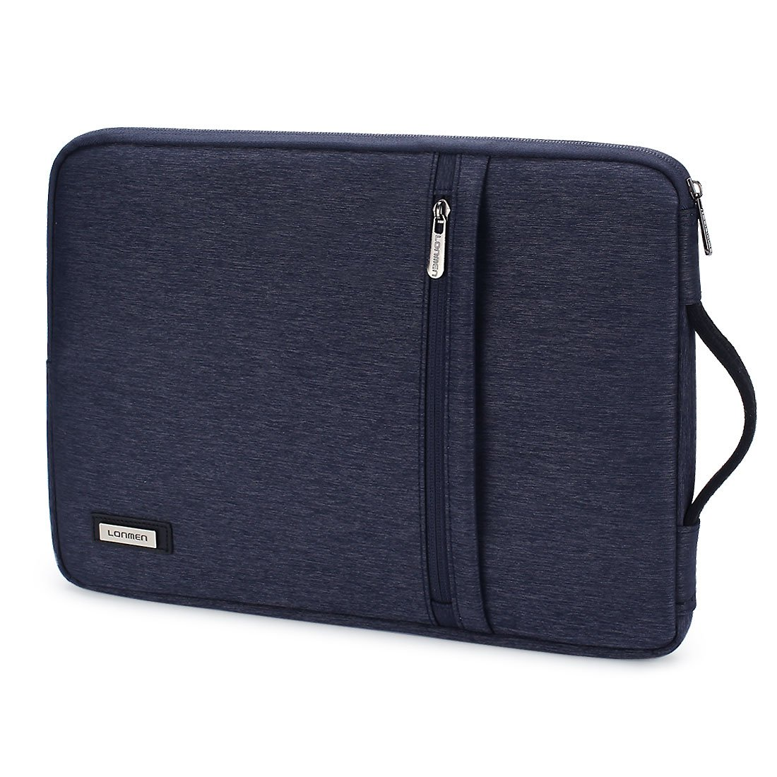 LONMEN Laptop Sleeve Waterproof 14 inch Carrying Polyester Cover Case Fit Most 14 Lenovo Dell Toshiba HP ASUS Acer Samsung Sony Notebook Computer Ultrabook with Durable Handle, Dark Grey