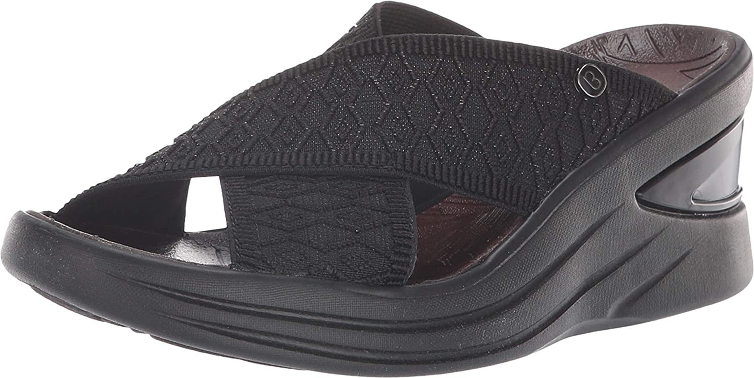 BZees Womens Vista Open Toe Casual Slide Sandals