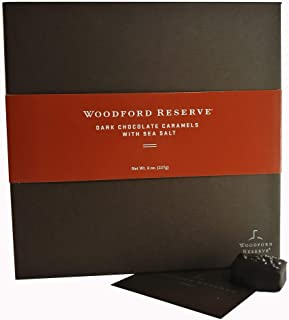 product image for Woodford Reserve Premium Bourbon Dark Chocolate Caramels with Sea Salt Gift Box, 16 Candies per box, delicious and perfect for holiday gifts