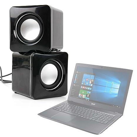 DURAGADGET Altavoces Compactos para Portátil Acer Aspire ES 15 (ES1-533-P5QH) / Medion Akoya P6667: Amazon.es: Electrónica