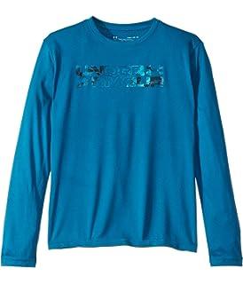 Under Armour Boys Big Logo Print Fill Long Sleeve T-Shirt