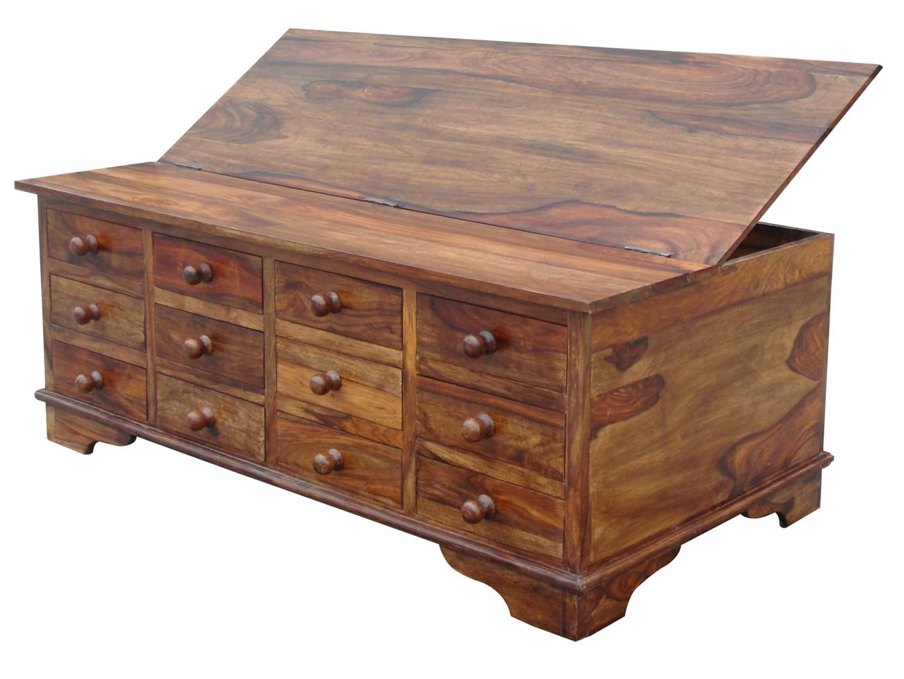 SOLID SHEESHAM WOOD 12 DRAWER COFFEE TABLE TRUNK CHEST  Amazon co uk   Kitchen   Home. SOLID SHEESHAM WOOD 12 DRAWER COFFEE TABLE TRUNK CHEST  Amazon co