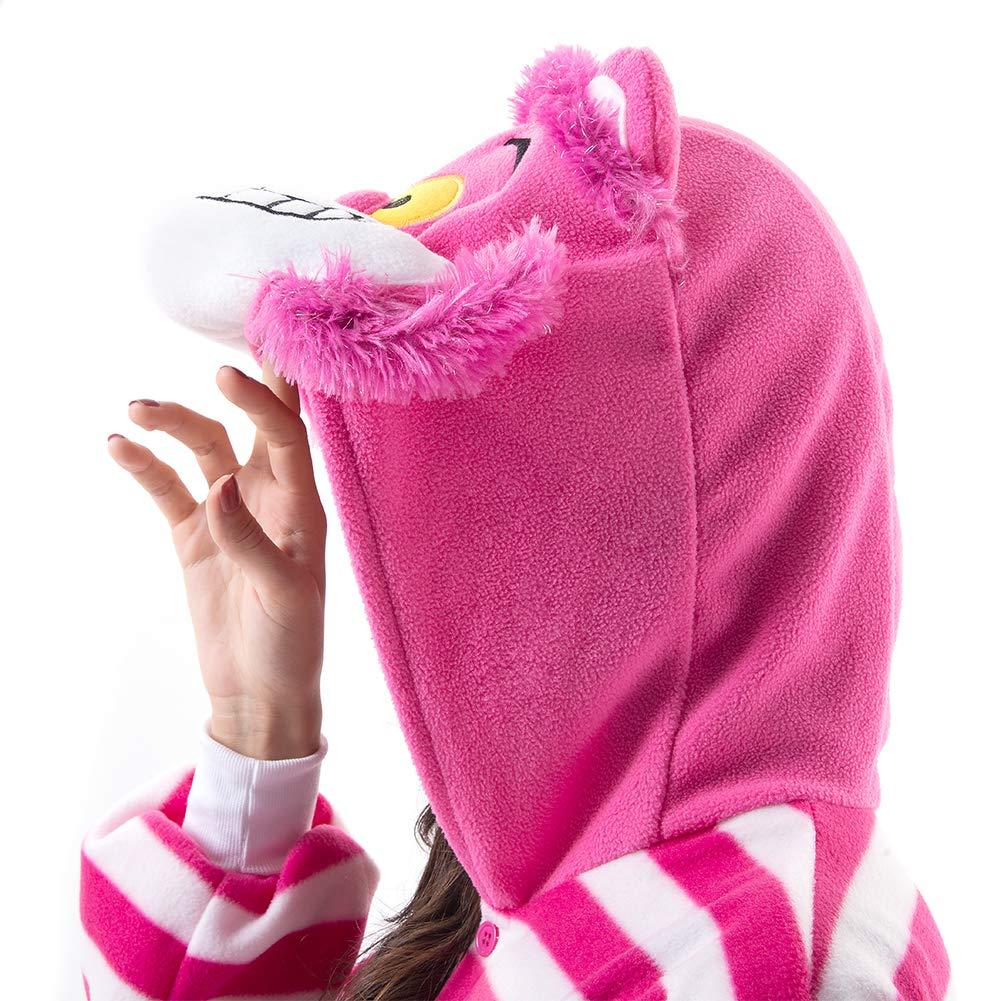 Beauty Shine Unisex Adult Animal Cheshire Cat Christmas Costume Plush Pajamas