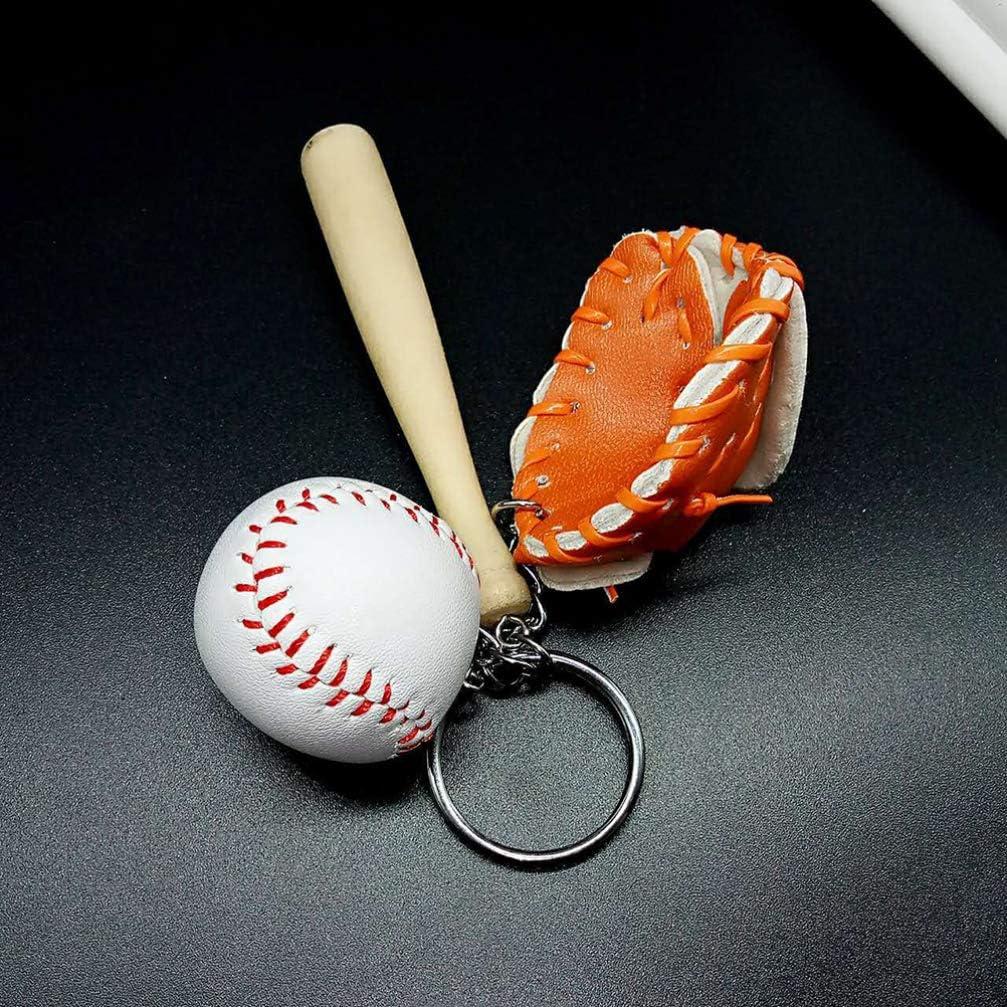 Tomaibaby Llaveros decoraci/ón deporte b/éisbol bolso colgante llavero bolso decorar fiesta regalo naranja