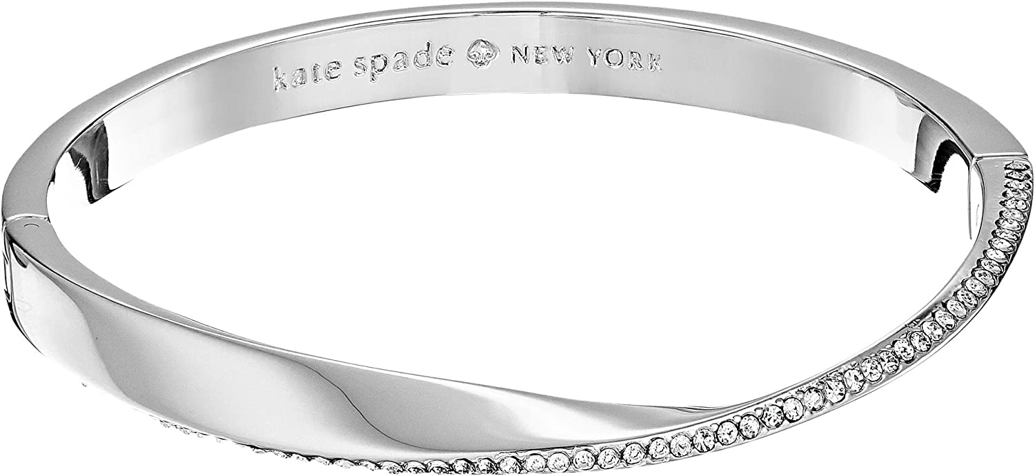 Kate Spade New York Womens Do The Twist Paved Hinged Bangle Bracelet WBRUE165911