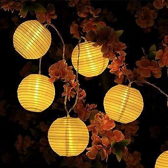 LED Outdoor Laterne Garten Lichterkette 5er Set