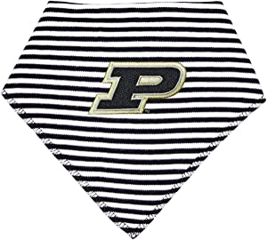 Purdue University Striped Baby Bandana Bib
