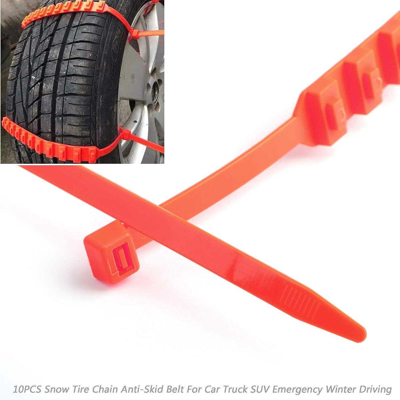 40PCS Snow Tire Chain Anti-Skid Belt for Car Truck SUV Emergency Winter Driving