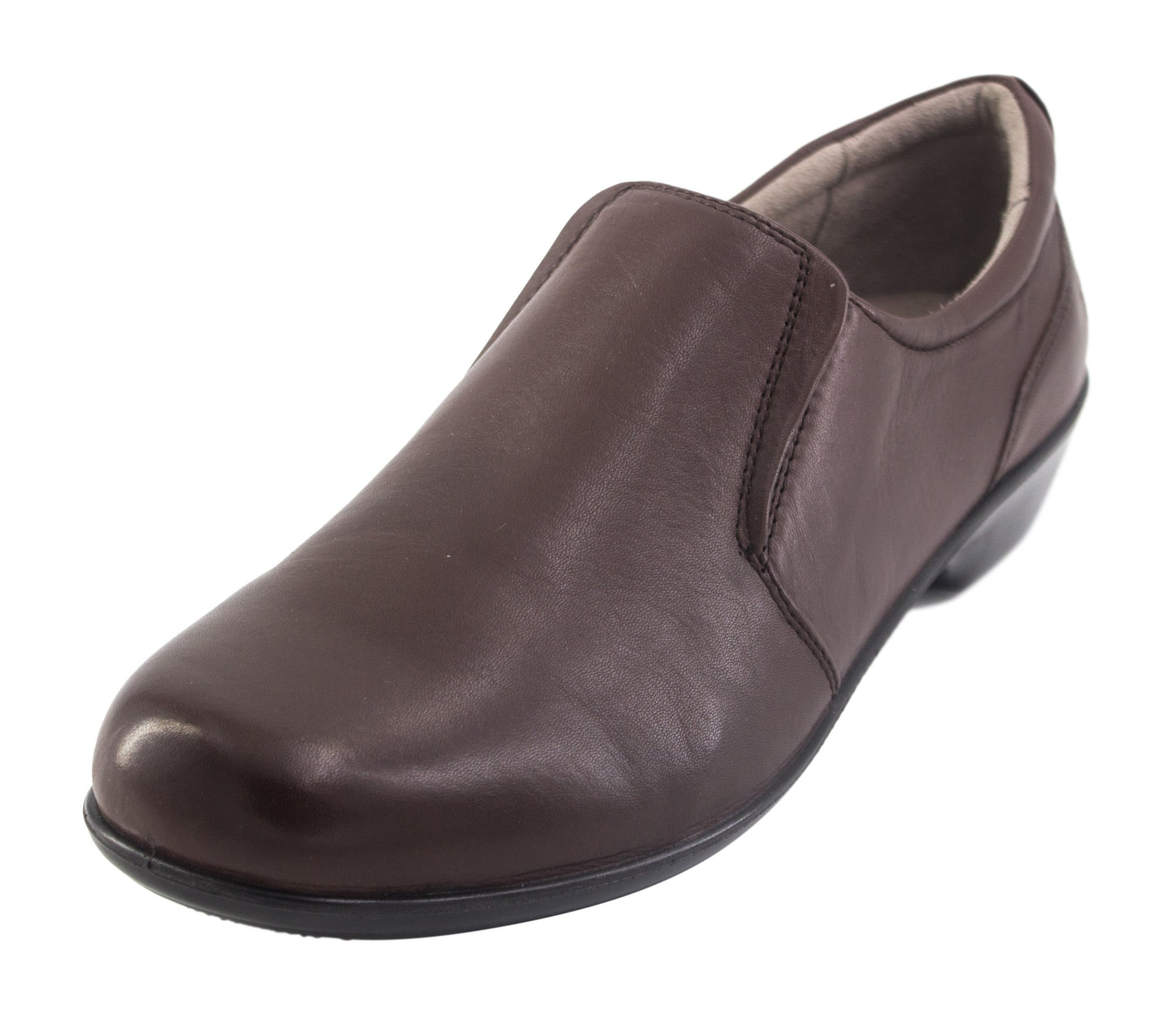 Naturalizer Women's Brody Slip-On Work Shoe, Brown, Size 7.5 M