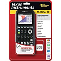 $109 » Texas Instruments TI-84 Plus CE Graphing Calculator, Black