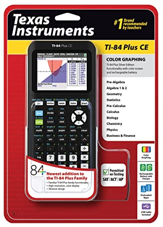 Amazon Texas Instruments Ti 84 Plus Ce Graphing Calculator