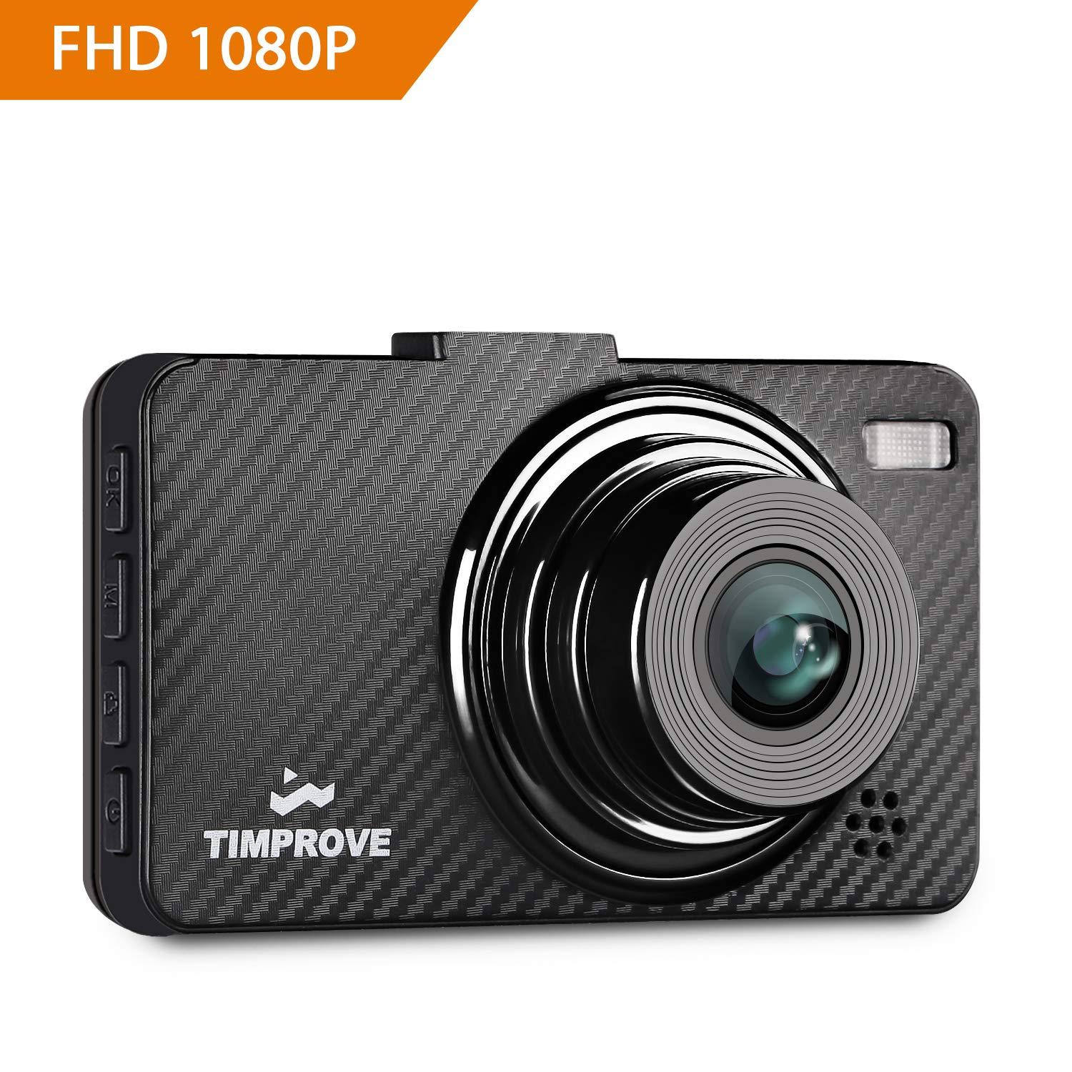 TIMPROVE Dash Cam 1080P FHD DVR Recorder Car Dashboard Camera with 3' LCD Screen, 6-Lane 170° Wide Angle Lens, G-Sensor, Motion Detection and Clear Nighttime Recording E100