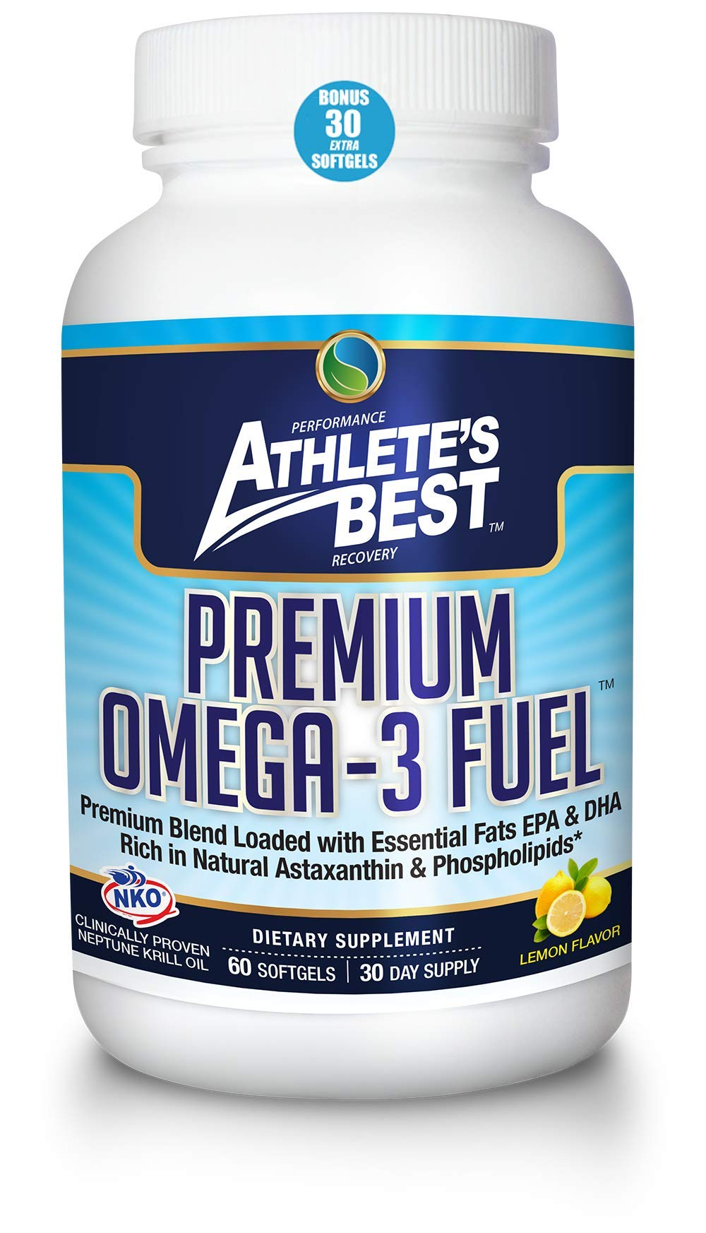 ATHLETE'S BEST Premium Omega-3 Fuel Supplement   2400mg Krill Oil-Astaxanthin-Calamarine-Vitamin D3   EPA+DHA Omega 3s   Highest Quality & Clinically Proven Ingredients by Athlete's Best