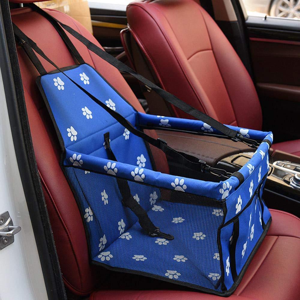 Haustier-Autositz f/ür Hundekatze tragbare und atmungsaktive Tasche mit Sicherheitsgurt Rosa Hundetr/ägersicherheitsstall f/ür die Reise mit Clip an der Leine und Aufbewahrungspaket mit 2 Haltestangen
