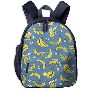f459ca064617 Amazon.com: Withbbts Banana Small Kids Backpack School Backpack Un ...