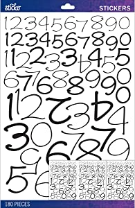 Sticko Black Wendy Numbers Variety Pack Stickers