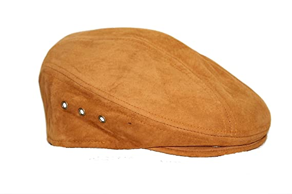 2e1ff7d8 Genuine Suede Leather Made In The USA IVY Flat Cap at Amazon Men's Clothing  store: